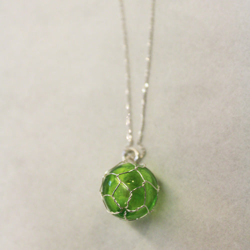 Handblown Glass Fishing Float Necklace