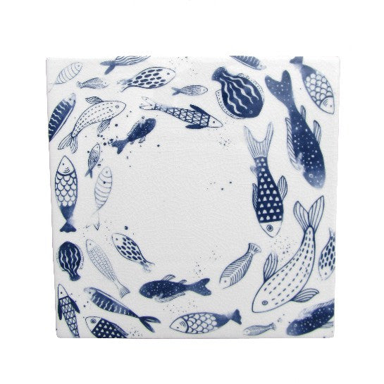 Inky Blue Fish Surface Saver