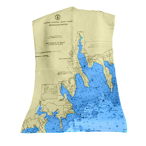 New Bedford Navigation Chart Hand Towel