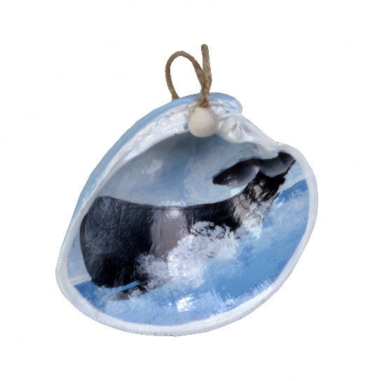 Handmade Quahog Shell Ornament