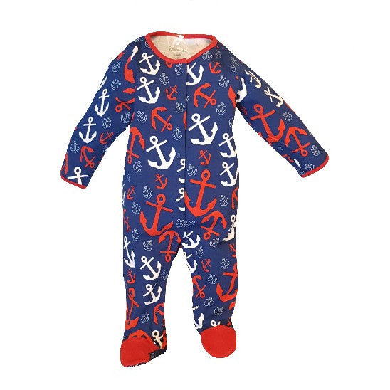 Anchors Away Footed Sleeper