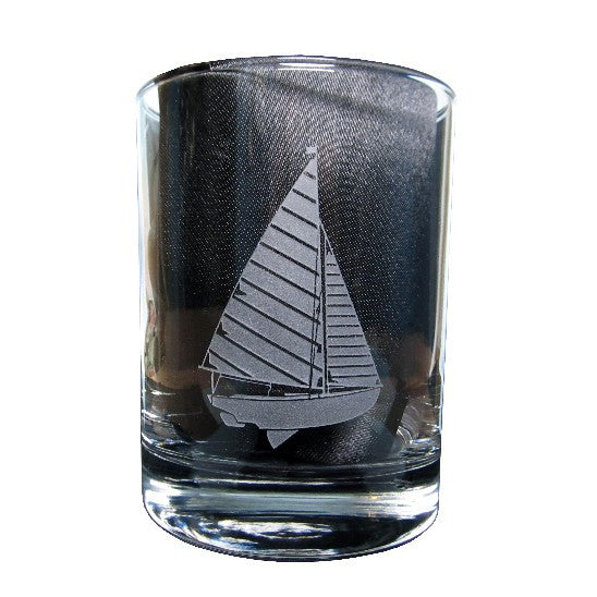 Sailboat Rocks Glass