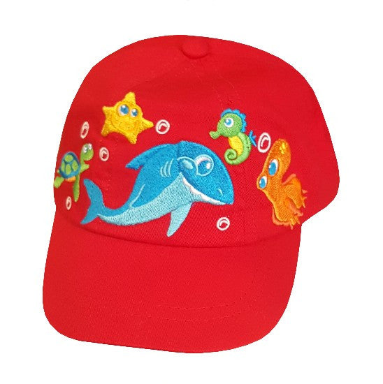 Infant NBWM Ball Cap, Sea Friends