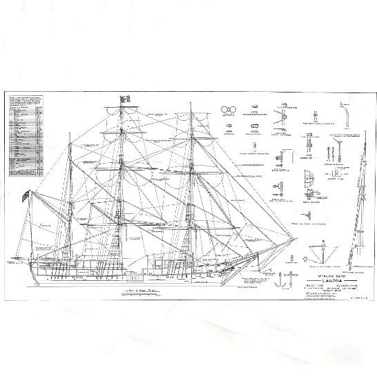 Bark Lagoda Ship Plans
