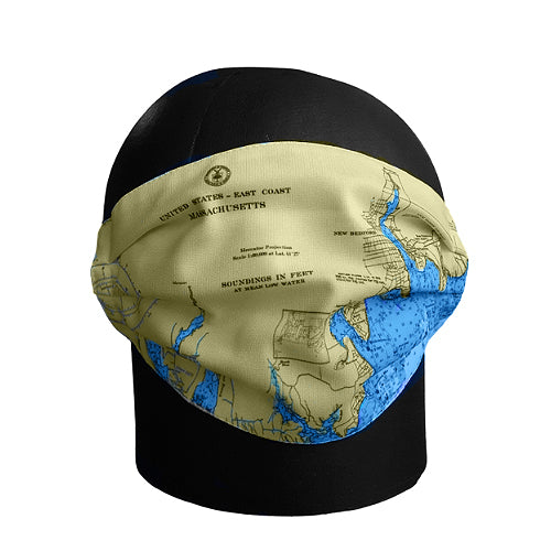 New Bedford Navigation Chart Face Mask