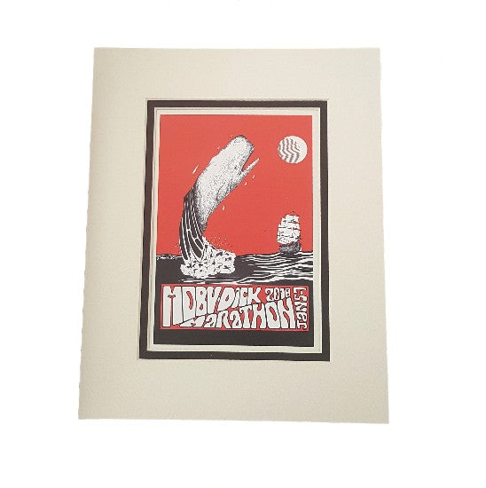 2018 Moby-Dick Marathon Matted Print