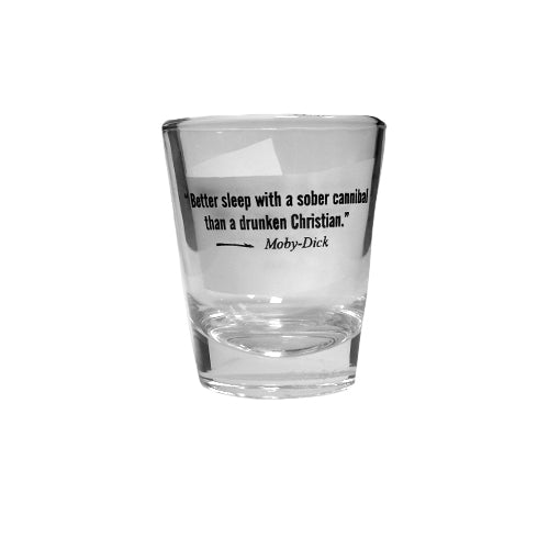 Shot Glass with Moby Dick Quote