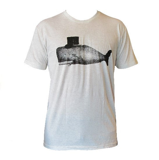 Whale with Top Hat T-Shirt, Mens
