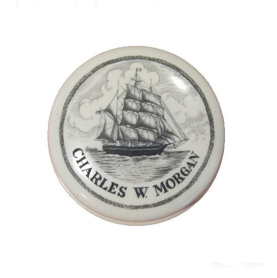 Charles W. Morgan Scrimshaw Paperweight