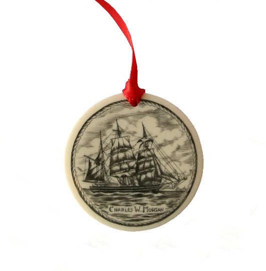 Charles W. Morgan Scrimshaw Ornament