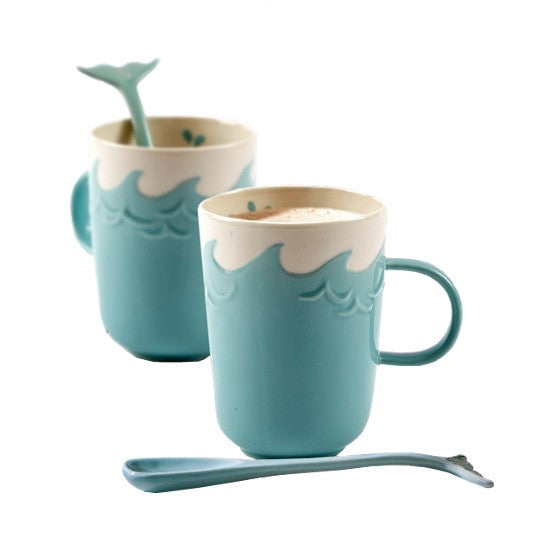 Mug with Whale Stirrer