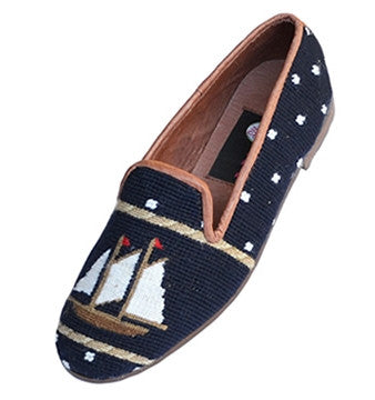 Newport Schooner Classic Needlepoint Loafer