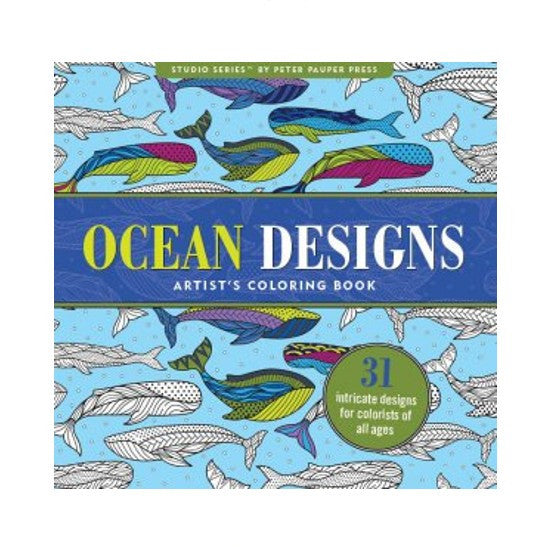 Oceans Design Adult Coloring Book