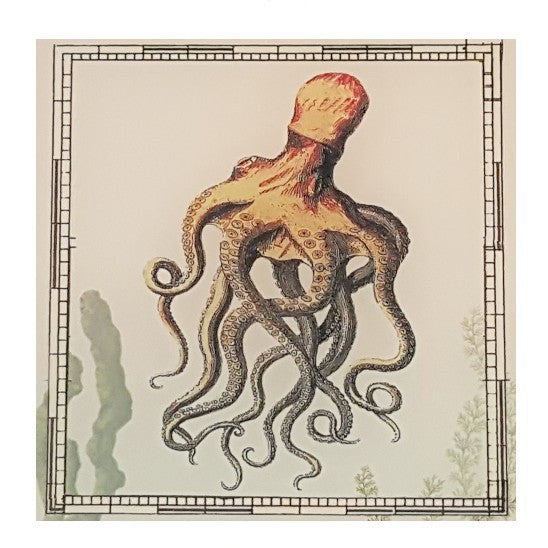Octopus Glass Cutting Board