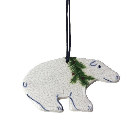 Dedham Polar Bear Ornament