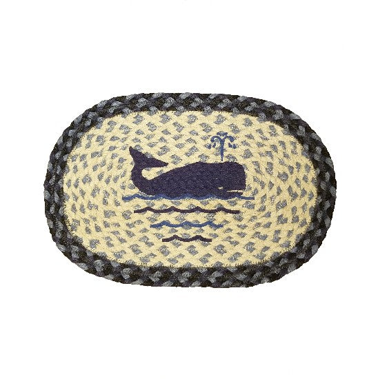 Braided Whale Mat
