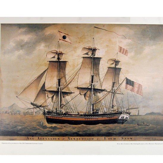 April 1807. ANN ALEXANDER of New Bedford LOUM SNOW - Coming in Leghorn