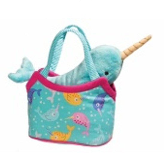 Mini Narwhal Stuffed Animal and Purse