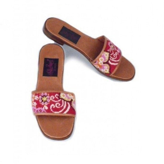 Red Whimsy Needlepoint Slide