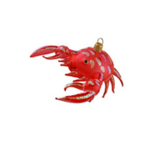 Ornament Blown Glass Crab