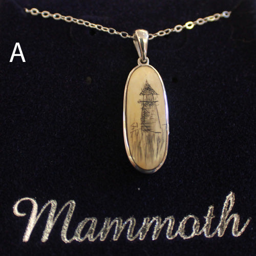 Sterling Silver Scrimshaw Necklace