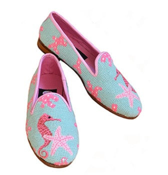 Seahorse and Starfish Classic Needlepoint Loafer