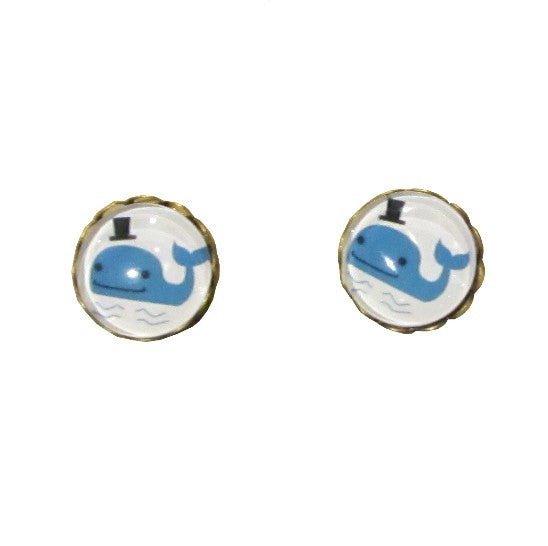 Kawaii Whale Earrings