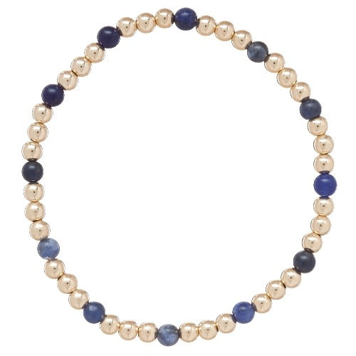 enewton Gold Sincerity Pattern 4mm Beaded Bracelet