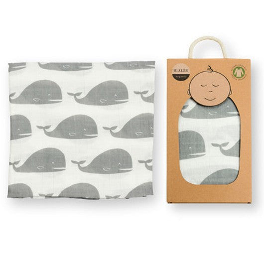 Grey Whale Swaddle Blanket