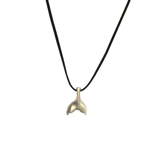 Pewter Whale Tail Necklace
