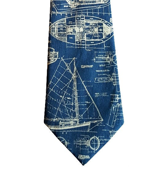 Sailboat Plan Tie