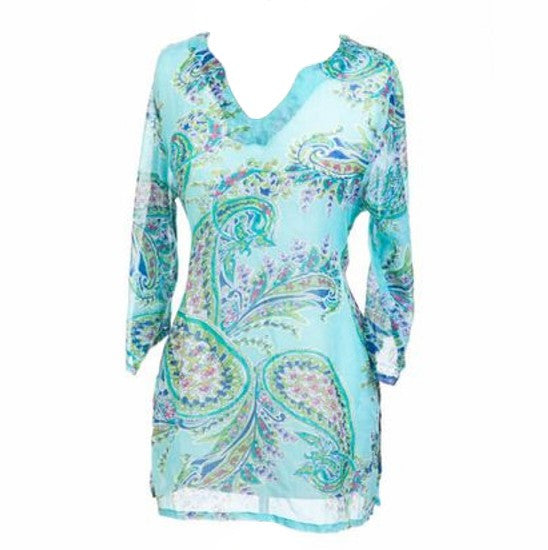 Ladies Paisley Tunic Cover-up
