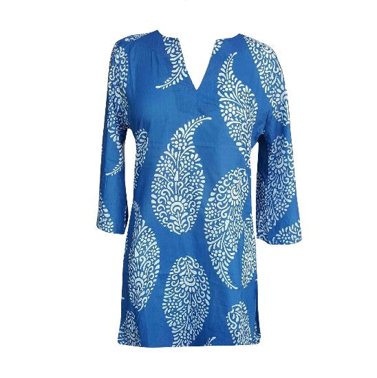 Ladies Blue Tunic Cover-up