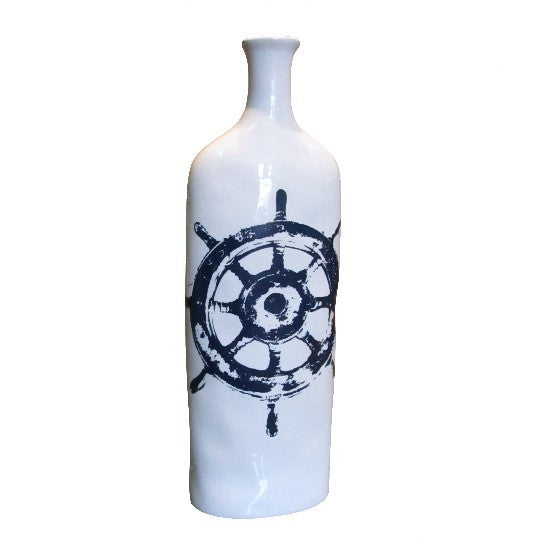 Tall Ship's Wheel Vase