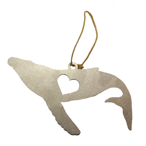 Whale with Heart Ornament
