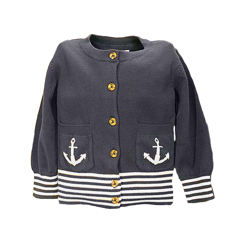 Nautical Navy Cardigan