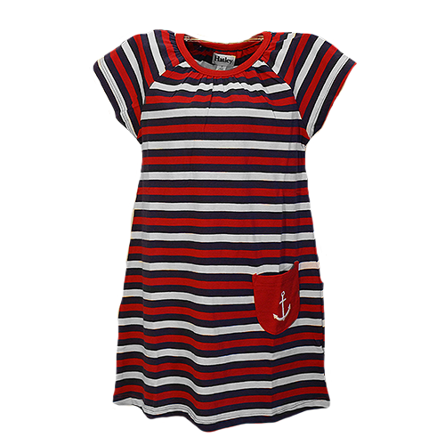 Nautical Stripe Tee Shirt Dress