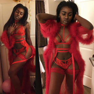 Women's Lingerie Cover-Ups Robe Gown