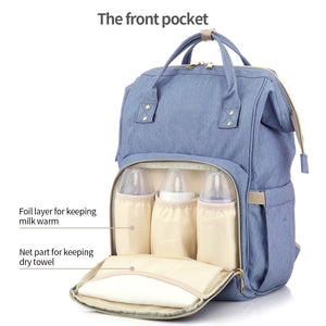 All in One Practical Baby Diaper Bag with Separate Pocket
