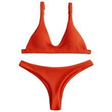 Load image into Gallery viewer, Low Waisted Padded Scoop Bikini Set