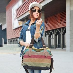 Women's Striped Cross-Body Handbag
