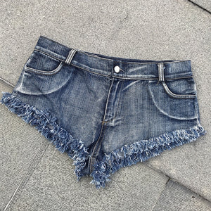 Sexy Low Waist Denim Short Jeans