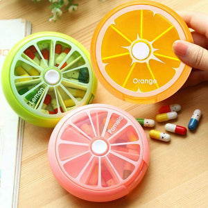 Fruity Rotating Weekly Pill Medicine Organizer