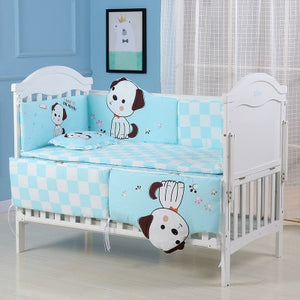 5pcs Toddler Cotton Baby Bed Bumper