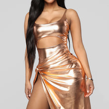 Load image into Gallery viewer, Women's Metallic Gold Sexy 2pcs Outfit