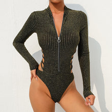 Load image into Gallery viewer, Women's Long Sleeve Bodysuit