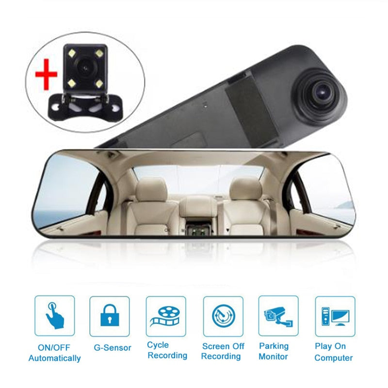 Car Rear View Mirror Video Recorder