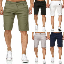 Load image into Gallery viewer, Men's Slim Fit Casual Cotton Shorts