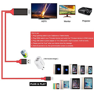 Cellphone HDMI Cable Projector/TV Cord