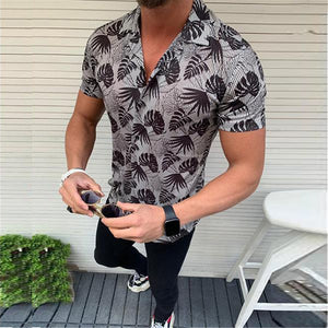 Men's Casual Short Sleeve Cotton Shirt